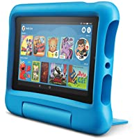"Fire 7 Kids Tablet, 7"" Display, 16 GB, Blue Kid-Proof Case"