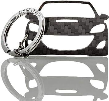 Blackstuff Carbon Karbonfaser Schlüsselanhänger Kompatibel Mit Mazda 3 2009 2013 Mps Bs 638 Auto