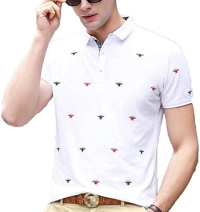 Polo Bordado para Hombre Camisa De Tenis De Tamaños Cómodos Golf ...