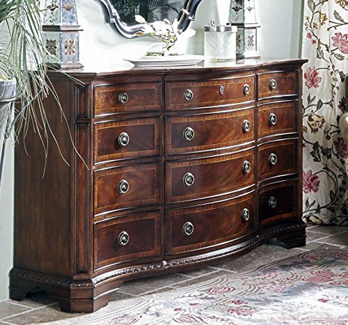 Antebellum Heritage Mahogany 12 Drawer Triple Dresser