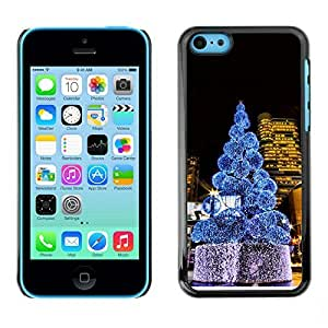 YOYO Slim PC / Aluminium Case Cover Armor Shell Portection //Christmas Holiday Tree Midtown 1303 //Apple Iphone 5C