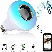 Ampul Skylove Hoparlör in-Form, LED-Ampul Uzaktan kumanda ile Bluetooth hoparlör, RGB-ışık-E27, entegre hoparlör ile Ev için, sahne, parti, dekorasyon