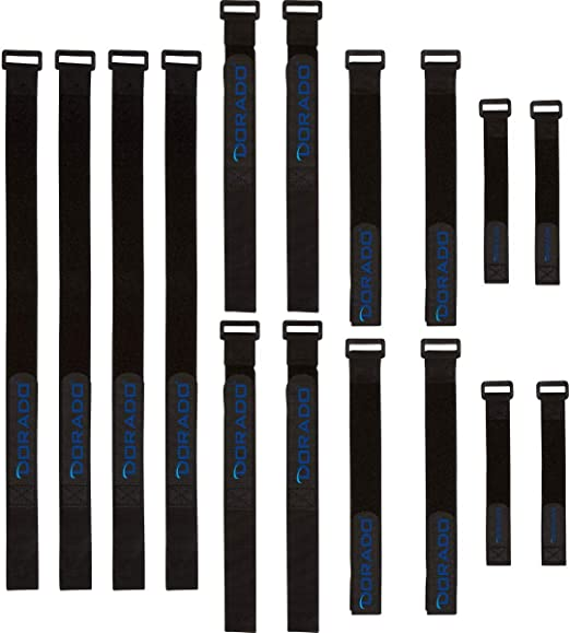"""300 x 9/"""" Black Cable Ties Straps Reusable Hook and Loop Wire Strap Tie"""