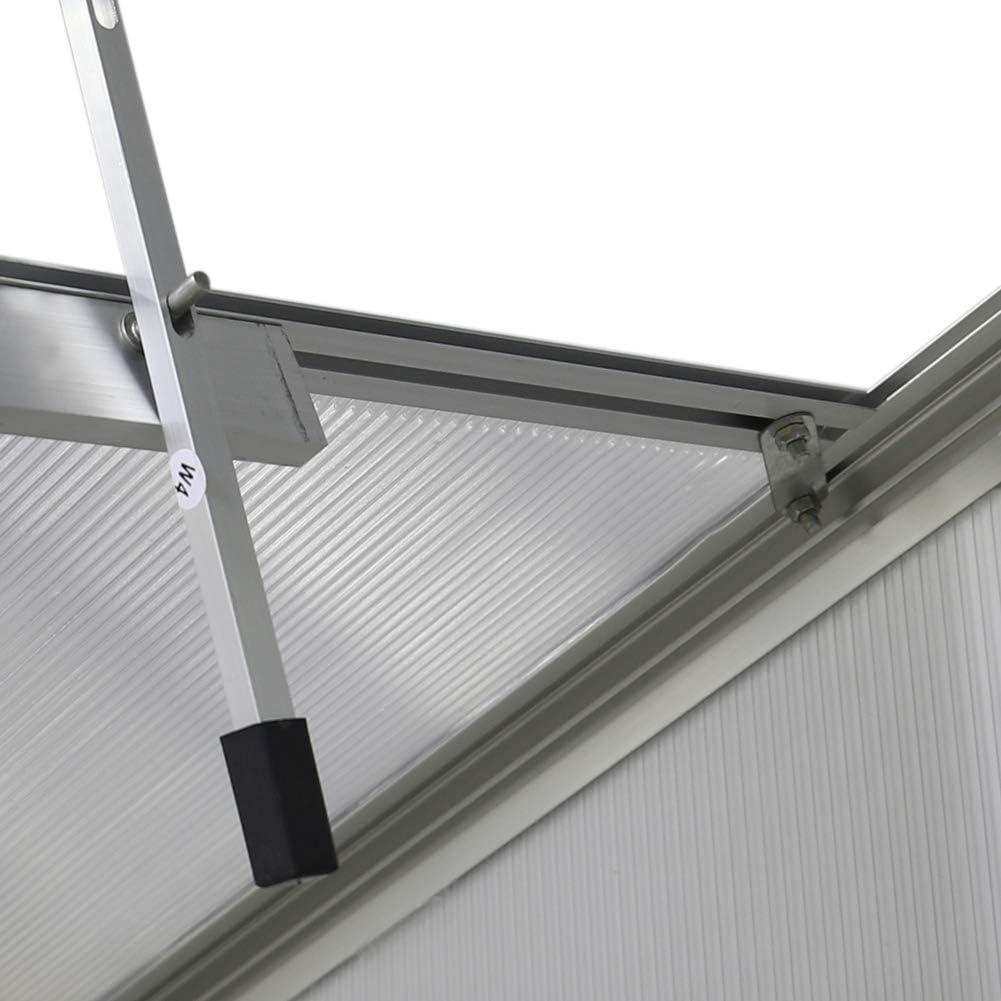 Sliding Door 4 Ft x 6 Ft, Transprant FIDOOVIVIA Polycarbonate Garden Greenhouse Rustproof Aluminum Frame Growhouse Sun Room for Plants Vegetable Garden /& Outdoor with Window