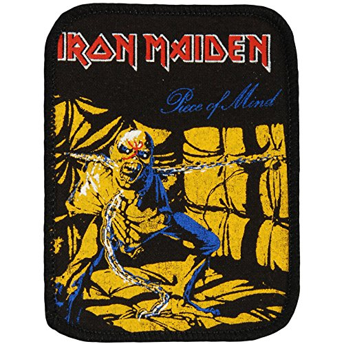 Iron Maiden Men's Piece Of Mind 2 Screen Printed Patch Black