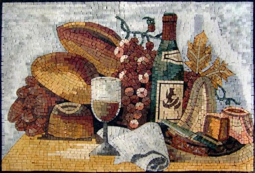 20x30'' Marble Mosaic Stone Art Tile Kitchen Backsplash by Mozaico