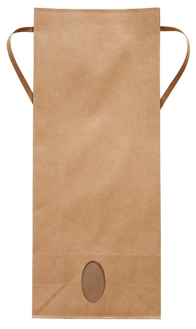 マルタカ クラフト 無地 窓付 角底 5kg用紐付米袋 100枚セット KH-0801 B003H9YWR8 5kg用米袋|100枚入り 100枚入り 5kg用米袋