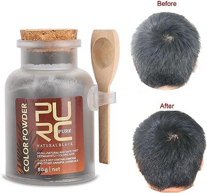 Tinte para el cabello Color permanente Powder Organic Herbal ...
