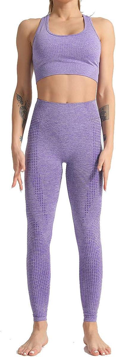 OEANBE Women Yoga Pants Hidden Workout Running Workout Tights Sport Leggings