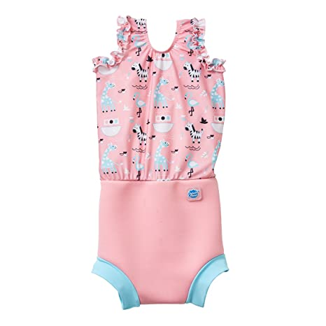 5ed229aa5a Amazon.com: Splash About Girl's Happy Nappy Swim Diaper Swimsuits ...
