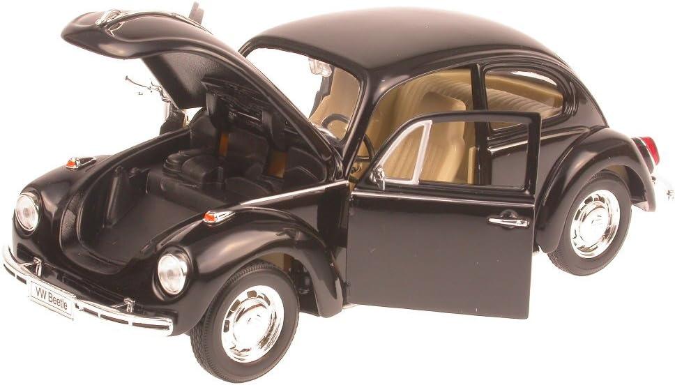 colore Modellino auto 1:24 Nero Welly VW K/äfer 1967