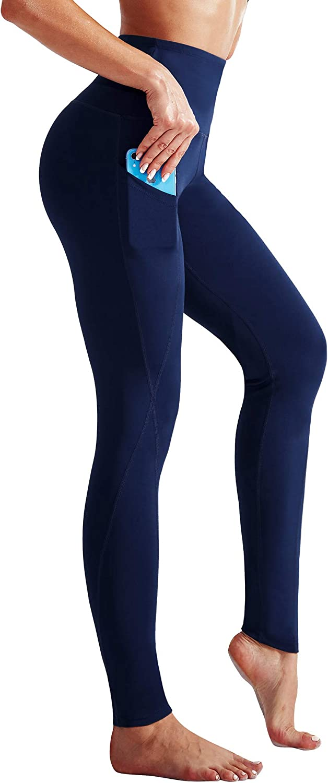 Neleus High Waist Running Workout Leggings for Yoga with Pockets