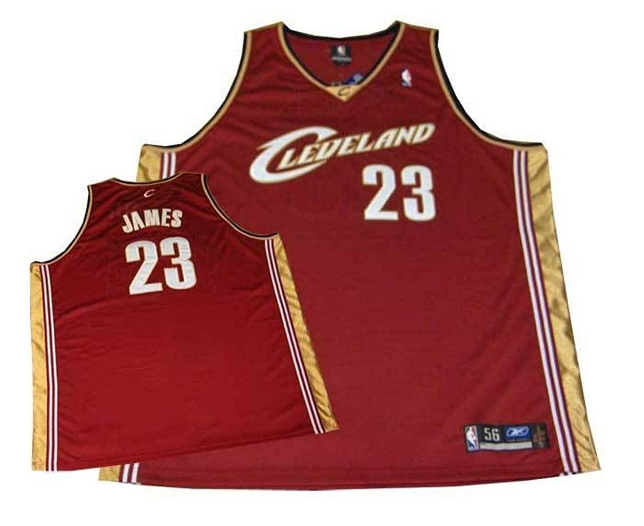 cheaper 53713 034b5 Lebron James Cleveland Cavaliers Authentic NBA Maroon Road Jersey