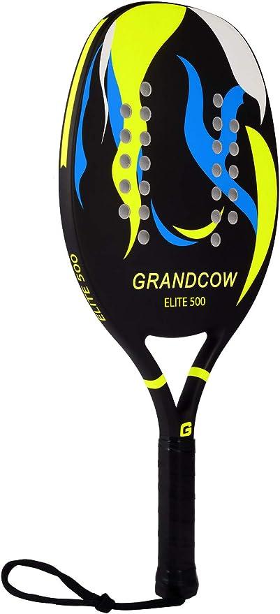GRANDCOW Beach Tennis Paddle Racket Carbon Fiber with EVA Memory Foam Core Tennis Padel