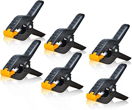 6x Backdrop Clamps Clips For Photo Studio Photographic Stand Light Easy To Use