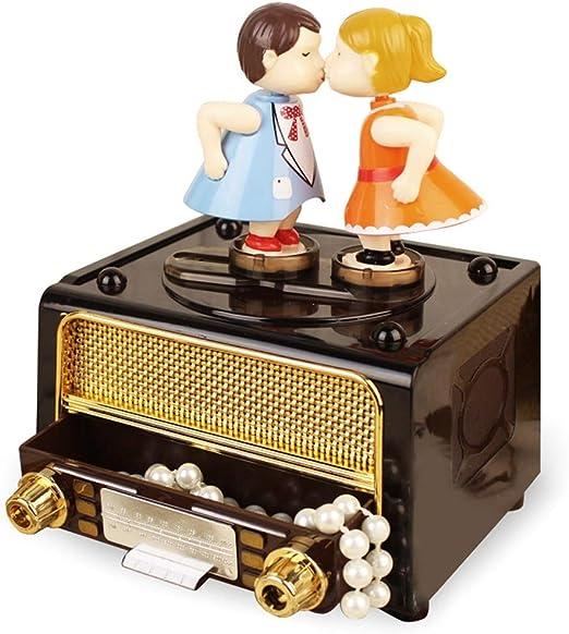 WCL Caja De Música Vintage Retro Caja De Música Regalo del Día del Maestro: Amazon.es: Hogar