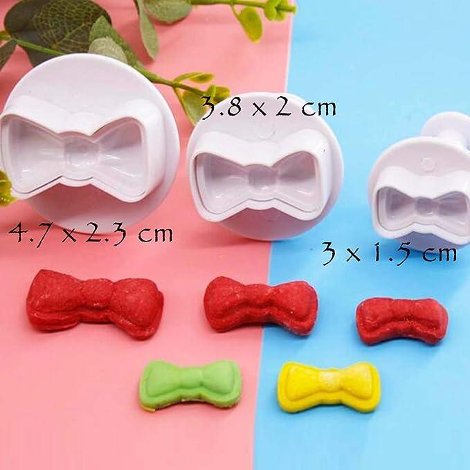 2 Sets Forma de Corbata de moño Fácil de Usar Hermosa Pastelería Sartenes para Galletas Fondant Galletas Moldes Cortadores de Galletas: Amazon.es: Hogar
