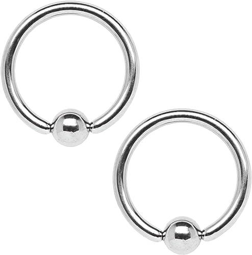 14g CBR Captive Bead Ring Body Piercing Stainless Steel