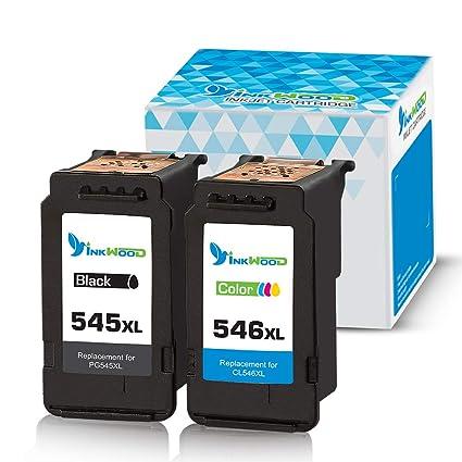 Inkwood - Cartuchos de Tinta reciclados para Canon PG-545 CL ...