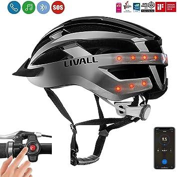Casco inteligente para bicicleta Livall MT1 con luces de giro en ...