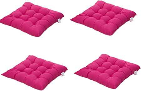 4 cómodos cojines para silla,Worsendy cojines de silla exterior,cojines de terraza,cocina de jardín Cojines de silla de comedor 40x40 cm Crema Cena silla Pad (Rosa): Amazon.es: Hogar