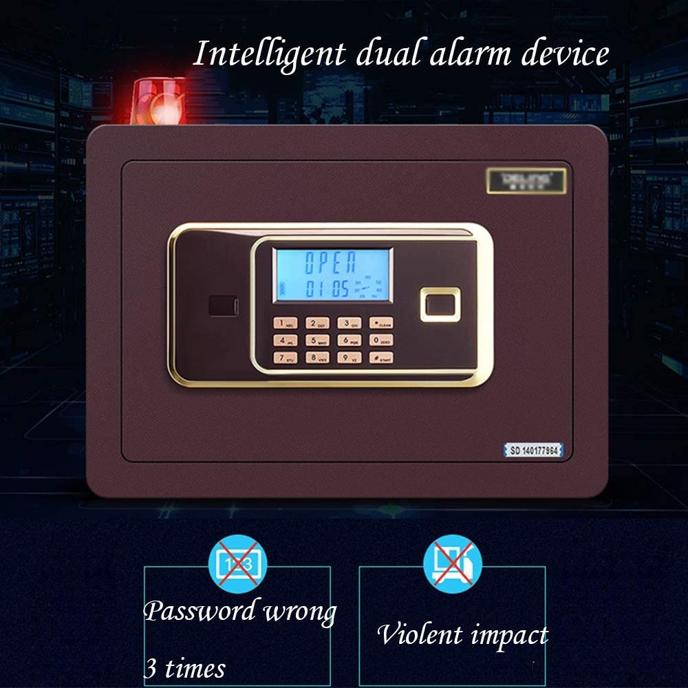 Digital with Keypad Box Safety Box Wall-Anchoring for Home Anti-theft Safes Box Steel Alloy Safes Includes Keys Color : Style2 ZCF Security Safes Security Safe