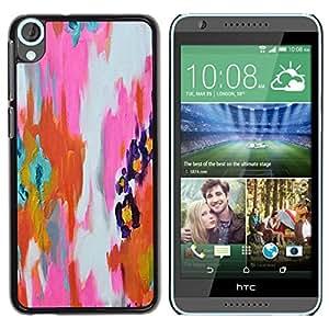 Be Good Phone Accessory // Dura Cáscara cubierta Protectora Caso Carcasa Funda de Protección para HTC Desire 820 // Abstract Watercolor Pink Orange Paint