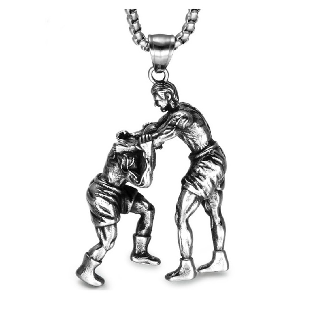 BORNjewelry Sports Gym Fitness Wrestling Pendant Necklace