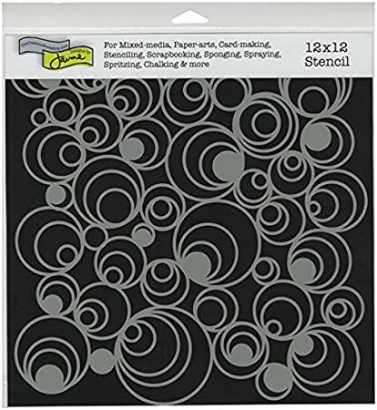 "Crafter/'s Workshop Template 12/""x12/""-mod Spirals"
