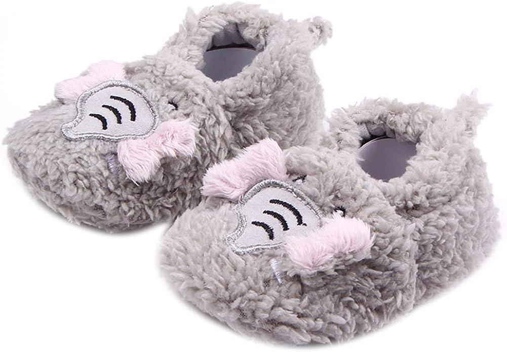 Gray 10.5cm Infant Baby Shoes Kid Girl Boy Rabbit Monkey Print Soft Sole Prewalker Toddler Shoes for Indoor Outdoor Light Sports
