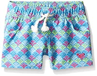 Roxy Big Girls' Island Tiles Boardshort, Ethereal Blue, 12