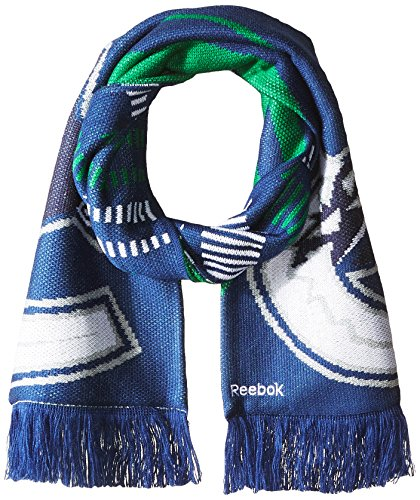 fan products of NHL Vancouver Canucks SP17 Arrow Knit Jacquard Scarf, Blue, One Size
