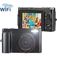 Vlogging Camcorder Camera 24MP Ultra HD WiFi Digital Camera 3.0 Inch 180 Degree Rotation Flip Screen 16X Digital Zoom Video Camera