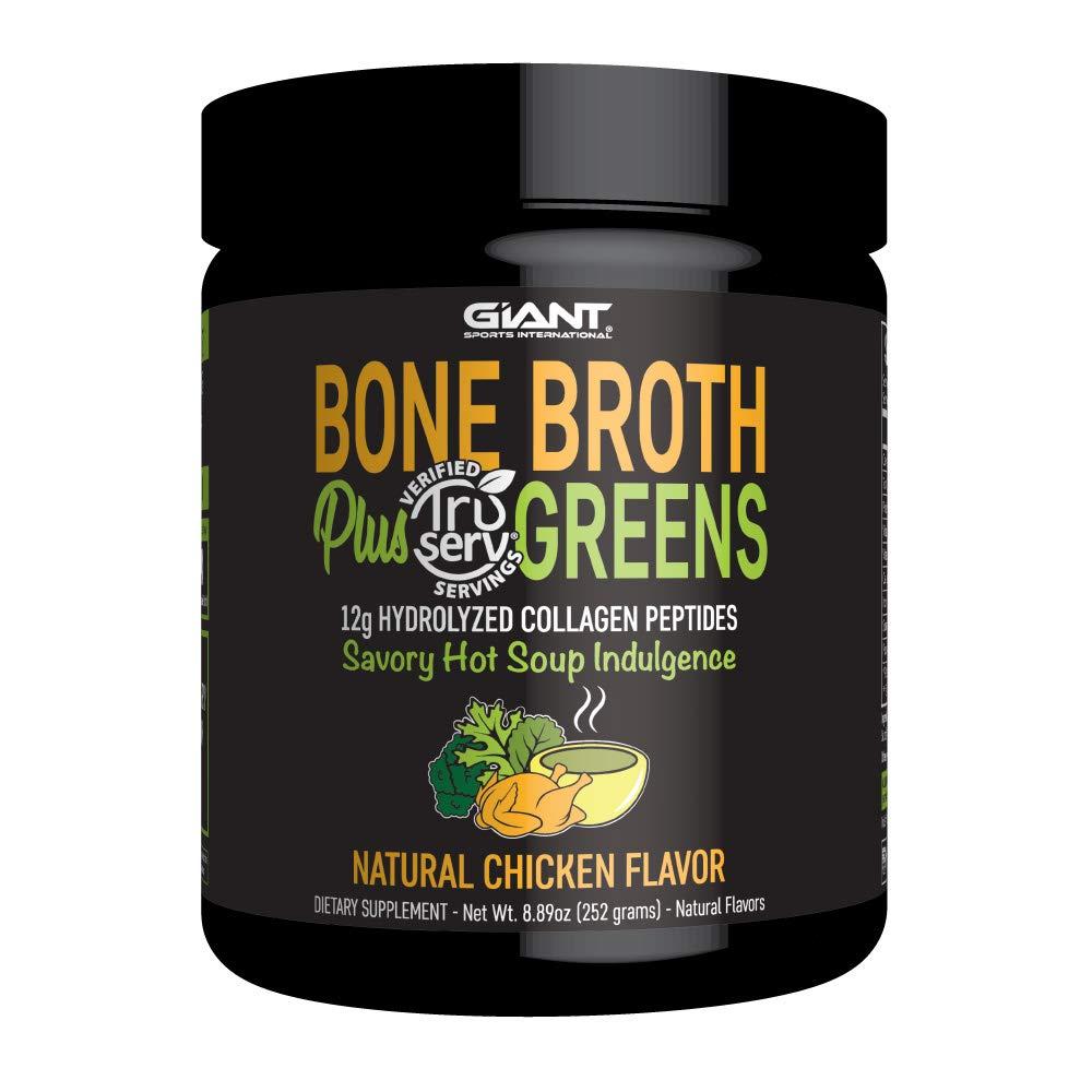 Giant Sports Bone Broth Plus Greens & Collagen Peptides Protein Powder