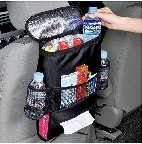 Tianmei Multi-function Car Seat Back Organizer Multi-Pocket Travel Storage Bag Drinks Holder Cooler / Warmer Bag & Tissue Box (Heat Preservation)