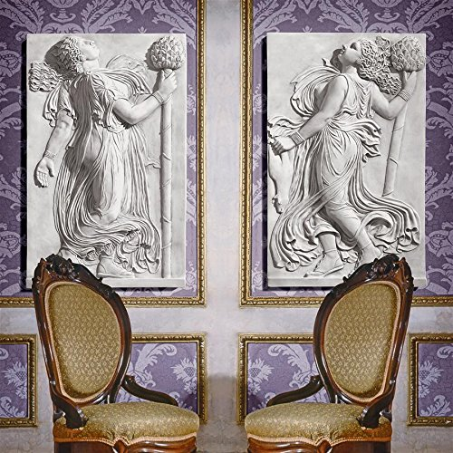 (Design Toscano Dancing Thyrsus Left & Right Wall Two Greek Maenads Friezes: Set)