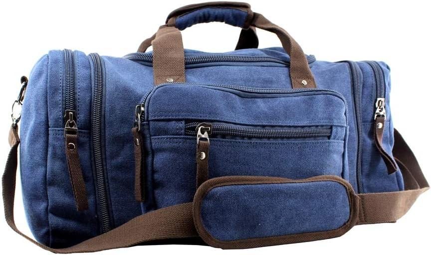 Jiao Miao Overnight Handbag Shoulder Canvas Travel Tote Luggage Weekender Duffel Bag,170804-03
