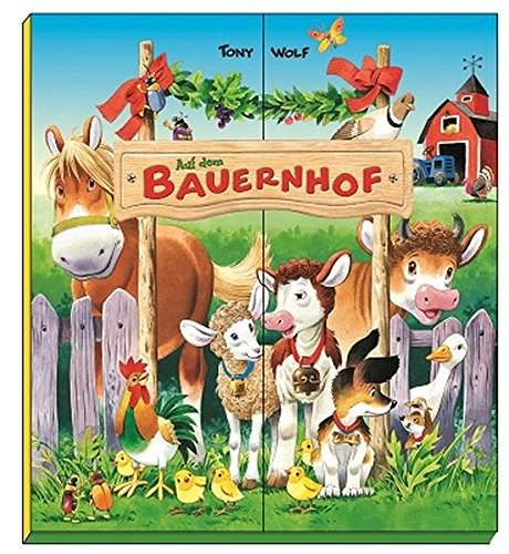 Auf dem Bauernhof: Wimmelbuch mit 12 kleinen Pappbüchlein