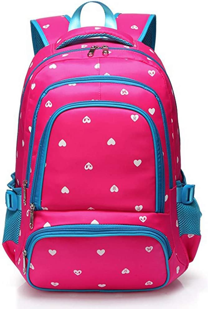 ZJ-School bag Backpack Color : Red, Size : 45X28X18CM Four Color Choice /&/& Childrens Lightweight Girl Bag Childrens Backpack Bag Primary School Large Capacity Bag