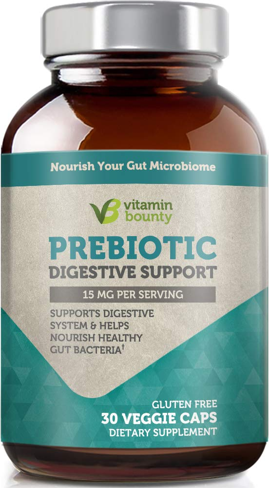 Vitamin Bounty Prebiotic Supplement - with PreForPro® - Supports Growth of Beneficial Gut Bacteria by Vitamin Bounty