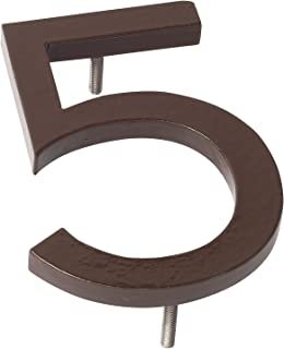 "product image for Montague Metal Products MHN-08-F-RB1-5 Solid Aluminum Modern Floating Address House Numbers, 8"", Powder Coated Rubbed Bronze"
