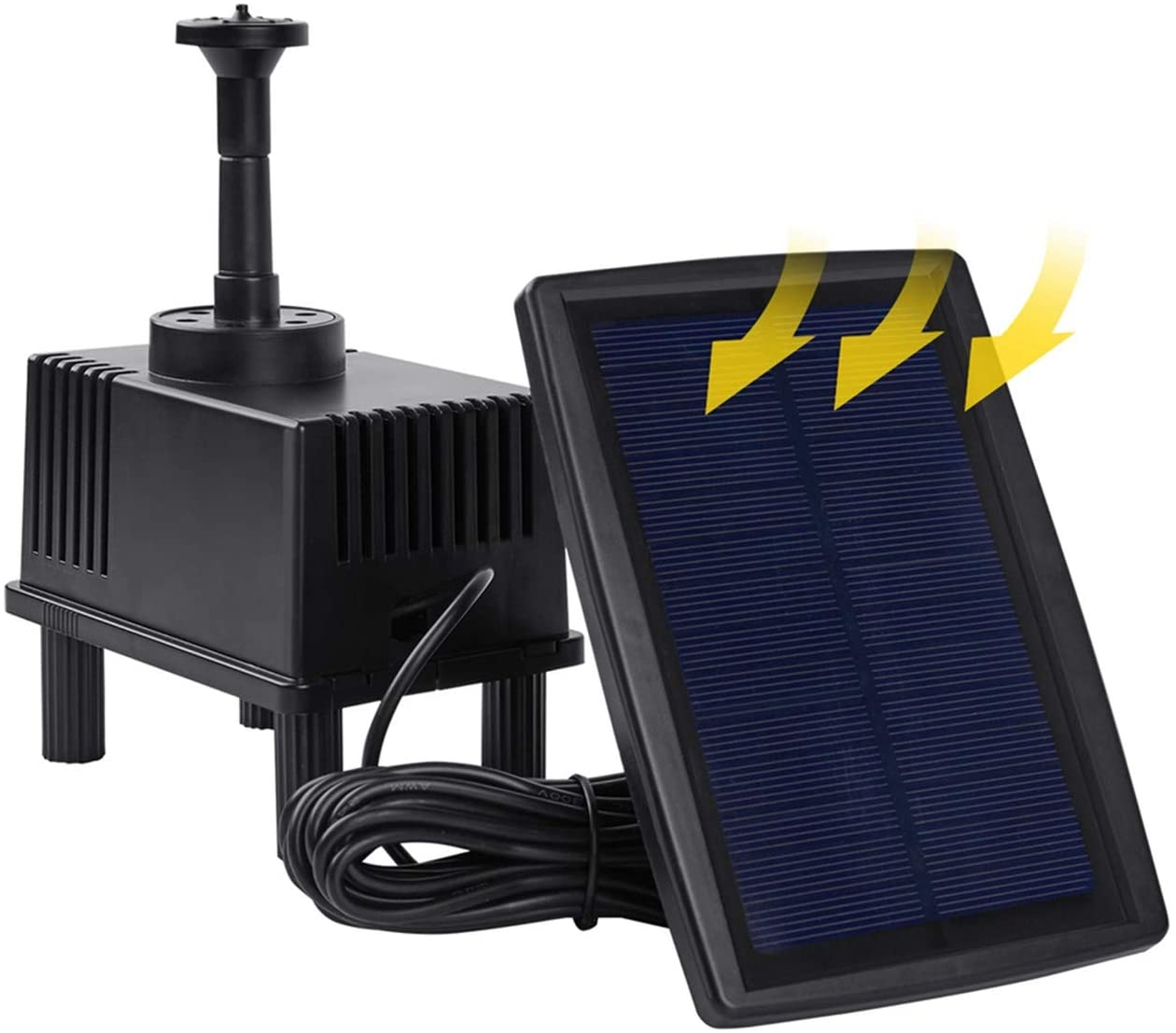 OCGIG Solar Power Fountain 180L/H Pump Pool Fish Garden Pond Watering Submersible Tool