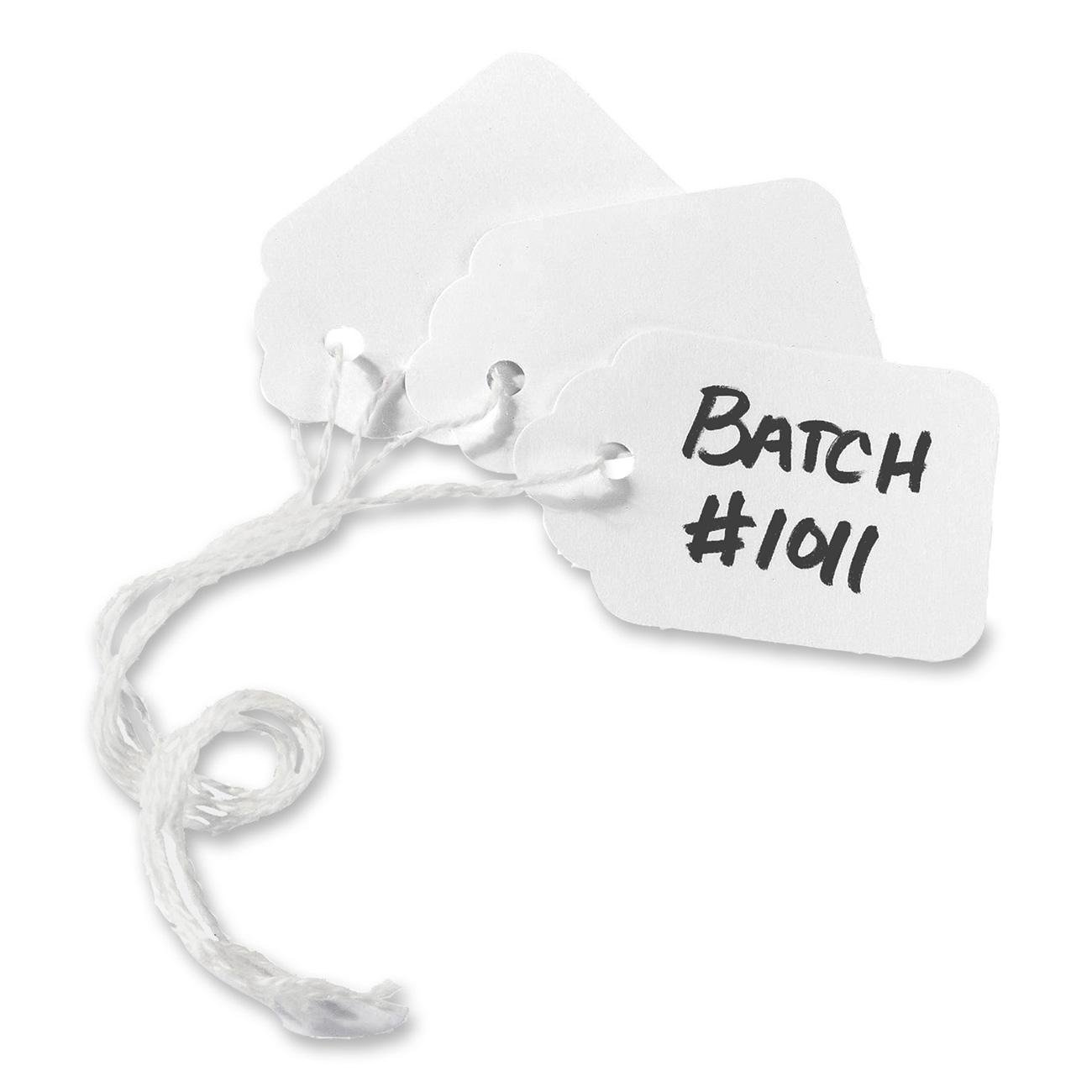 Avery White Marking Tags, Strung, 1.90 x 1.25-Inches, Pack of 1000 (12203)