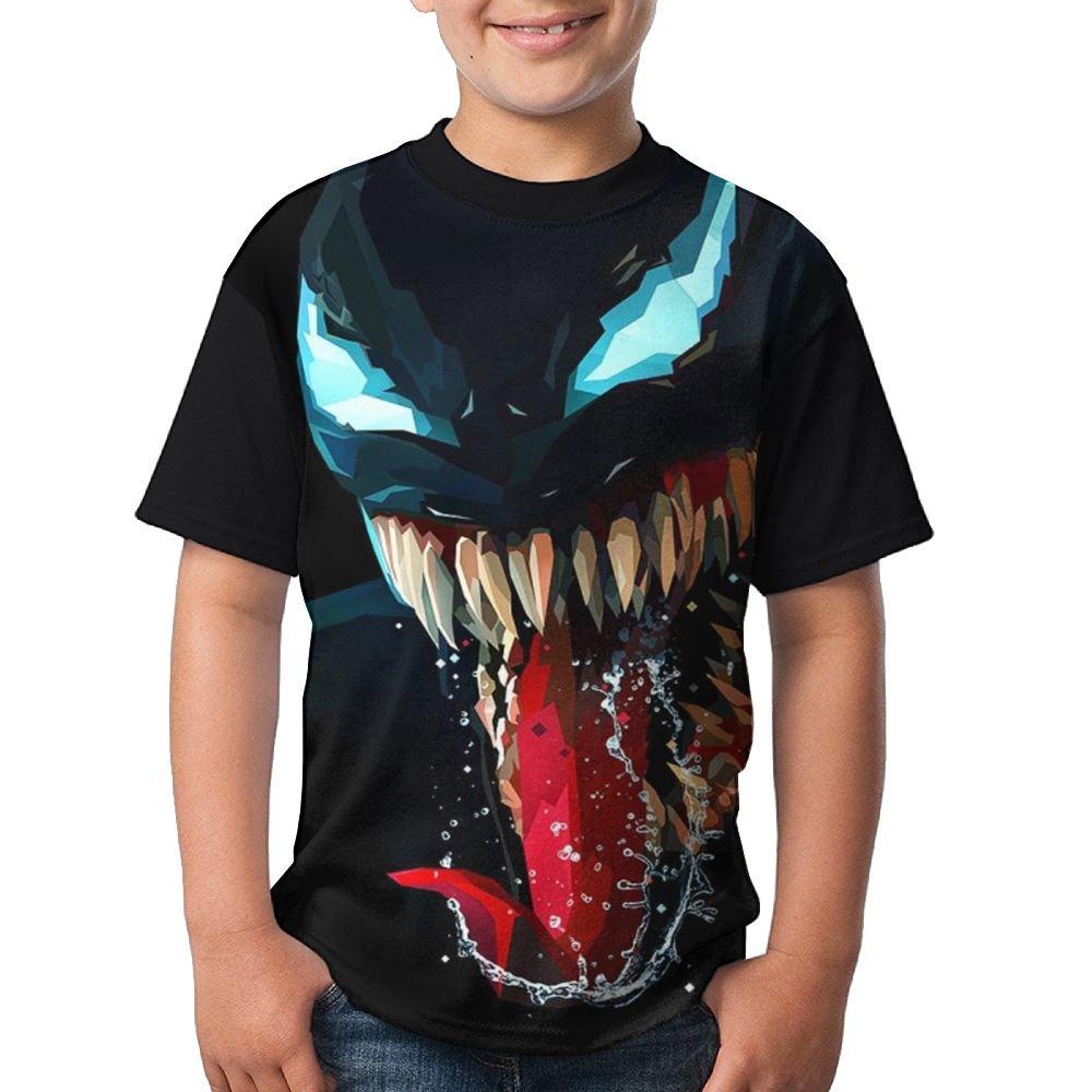 Monster Artwork Minimal In Dark Youth Boys Short Sleeve Crew Neck Tops Tshirts XL