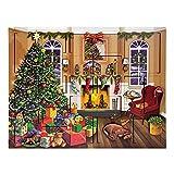 The Carolers Byers' Choice Fireside Advent Calendar #AC03B