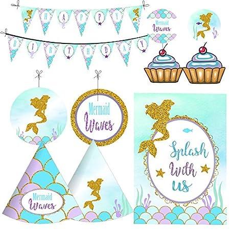 Kit de decoración para fiesta de cumpleaños para niñas ...