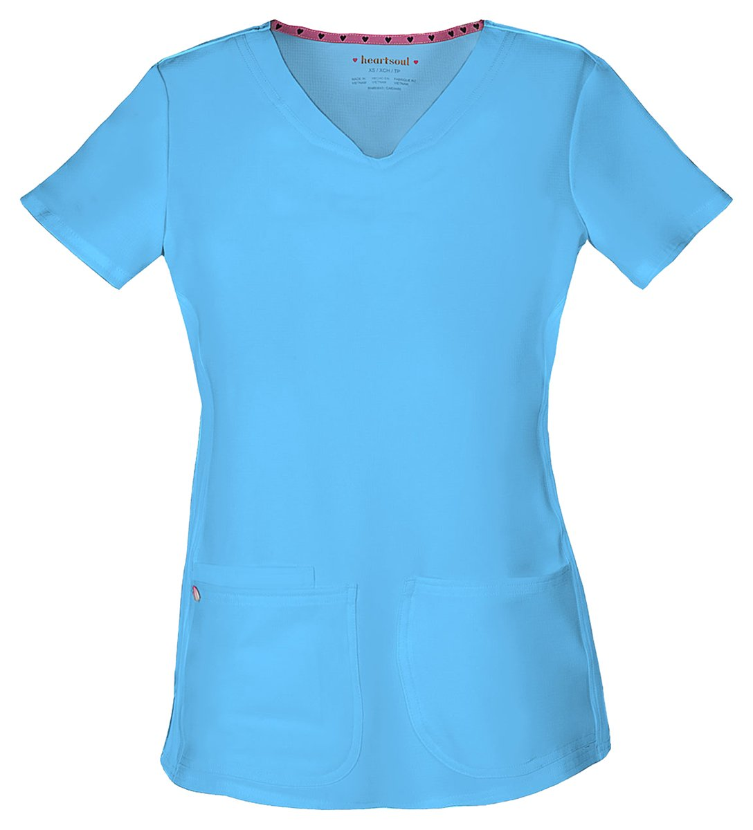 HeartSoul Women's Pitter-Pat Shaped V-Neck Top_Turquoise_X-Small,20710 by HeartSoul (Image #1)