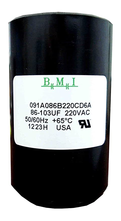 86-103 mfd (uf) 3/4 and 1 hp well pump control box motor start capacitor  275464118 for franklin 2801074915, crc 2824085015