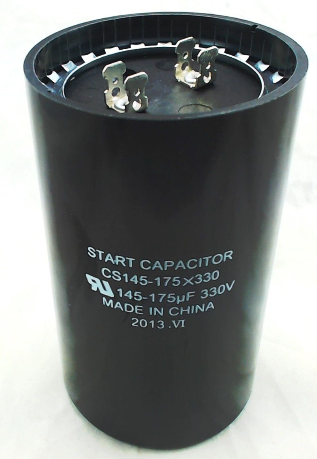 SUPCO CS145-175X330 Start Capacitor, 4.375'' Height, 2.56'' Diameter, 145-175 Mfd, 330V by Supco