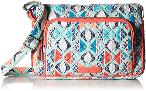 Vera Bradley Iconic RFID Little Hipster Crossbody, Signature Cotton, Go Fish ()